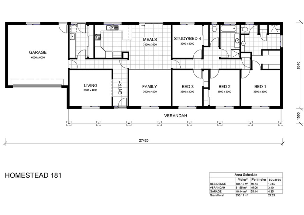 Homestead 181 glen loddon homes Homestead house plans