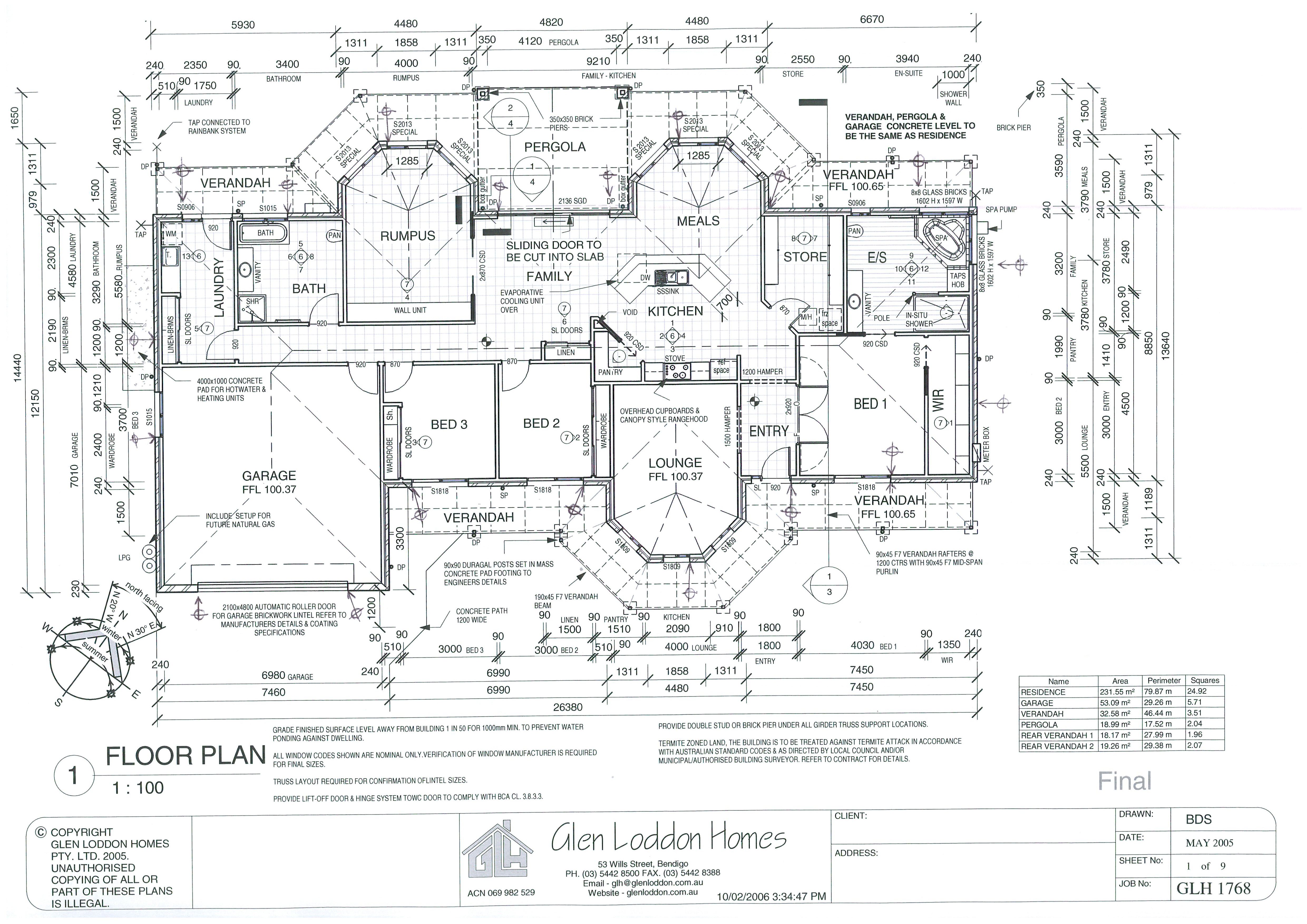 Properties Glen Loddon Homes Electrical Wiring Diagrams For Dummies 1700 2550 Glh1768 The
